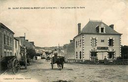 St Etienne De Montluc * Vue Prise De La Gare * Café LALANDE * Attelage - Saint Etienne De Montluc