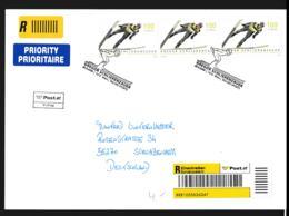 Austria FDC 2009 Gregor Schlierenzauer Ski Jumping - Registered Sonderamt Wien (LAR9-130) - Inverno