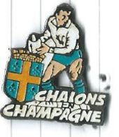 Rugby Chalons En Champagne (51) Joueur - Blason - Rugby
