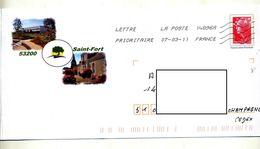 Pap Beaujard Flamme Chiffrée Illustré Saint Fort - Entiers Postaux