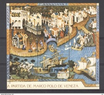 Portugal  -  S. Tome E Principe  -  Blocs  :  Yv  35     **   Bateau - Boat - St. Thomas & Prince