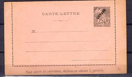 Guyane Bel Entier Postal Ancien Type Carte-lettre. TB. A Saisir! - Guyane Française (1886-1949)