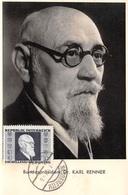 AUTRICHE .CARTE MAXIMUM. N°207834. 1946. Cachet NASSEREITH. Bundespräsident. Karl Renner - Maximum Cards
