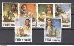 Portugal  -  S. Tome E Principe  :  Yv  701-06     **   Bateau - Boat - St. Thomas & Prince