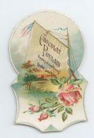 ANCIENNE IMAGE CHROMO PAYSAGE ROSE N° 2 CHOCOLAT POULAIN TBE - Poulain