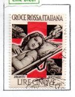 MARCHE DA BOLLO  -  LIRE 5 CROCE ROSSA  ITALIANA - PRONTO SOCCORSO - 1900-44 Vittorio Emanuele III