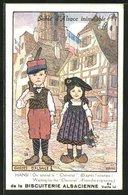 Künstler-AK Hansi: Gosses D`Alsace, Junge Mit Gewehr Und Mädchen - Illustrateurs & Photographes
