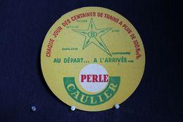 *Sous Bock / Bierviltjes /Coasters : Brasserie / Brouwerij - Perle Caulier Péruwelz - - Sous-bocks