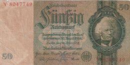 """Deutsches Reich / 1933 / Reichsbanknote """"50 Reichsmark"""" (BU54) - 1933-1945: Drittes Reich"""