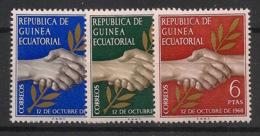 Guinée  équatoriale - 1968 - N°Mi. 1 à 3 - République - Neuf Luxe ** / MNH / Postfrisch - Guinée Equatoriale