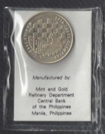 Chess, Philippines 1992, Unc, Commemorative Coin Of 5 Piso For The 30th Chess Olympiad, Manila, In Plastic Pouch - Philippines