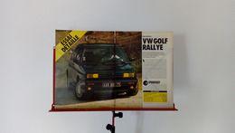 Coupure De Presse De 1989 Volkswagen Golf Rallye - Voitures