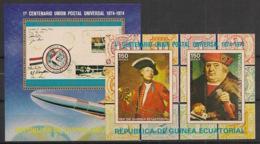 Guinée  équatoriale - 1974 - N°Mi. Bloc 109 à 110 - UPU - Neuf Luxe ** / MNH / Postfrisch - Guinée Equatoriale