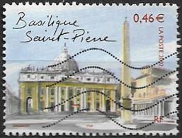 """France 2002  Oblitéré  N°  3530  """"  Capitales Européennes """"  Rome - La Basilique Saint Pierre - Used Stamps"""