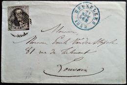 328 BELGIUM BELGIQUE 1852 BRUXELLES BRUSSELS TO LOUVAIN - Belgio