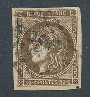 """DP-257: FRANCE: Lot Avec """"BORDEAUX """" N°47d Obl  Signé 3 Fois - 1870 Emission De Bordeaux"""