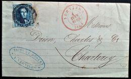 329 BELGIUM BELGIQUE 1852 ANVERS AMBER TO STAVELOT - Belgio