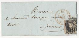 1851 BRIEF Met COB 6 Van CINEY Naar NAMUR Zie Scan(s) - 1851-1857 Medaillen (6/8)
