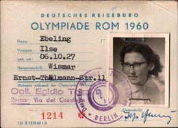 ! Olympiade Rom , Roma, 1960 Interessantes Konvolut über 25 Teile, 9 Eintrittskarten, Programme, Reiseunterlagen Etc. - Verano 1960: Roma