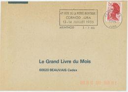 39 ARINTHOD JURA 1986 : 4e FETE DE LA PETITE MONTAGNE CORNOD... - Mechanische Stempels (reclame)