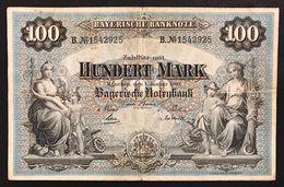 Germania Germany Baviera 100 MARK 1900 LOTTO 1712 - [11] Emisiones Locales