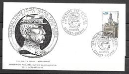 Enveloppe Souvenir Centenaire Des Combats De Sainte Quentin FAIDHERBE 1970/11/10 Timbre Yvert 1499 - FDC
