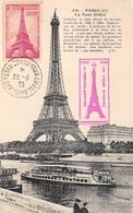 FRANCE .CARTE MAXIMUM. N°207860. 1939. Cachet Paris. Tour Eiffel - Cartoline Maximum