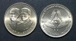 Thailand Coin 20 Baht 1997 100th Thai Railway Y332 UNC - Tailandia