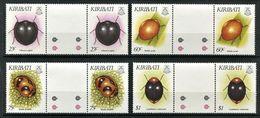 262 - KIRIBATI 1993 - Yvert 278/81 X 2 Avec Pont - Insecte Coleoptere - Neuf ** (MNH) Sans Trace De Charniere - Kiribati (1979-...)