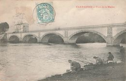 77 Varreddes Pont De La Marne Lavandieres Lavendiere Femme Fisant Lessive à La Main Femmes - France