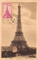 FRANCE .CARTE MAXIMUM. N°207863. 1939. Cachet Velizy Villacoublay. Toi Eiffel - Cartoline Maximum
