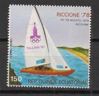 Guinée  équatoriale - 1978 - N°Mi. 1345 - Bateaux / JO Moscou / Olympics - Neuf Luxe ** / MNH / Postfrisch - Guinée Equatoriale