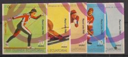 Guinée  équatoriale - 1978 - N°Mi. A1308 à A1312 - Lake Placid / Olympics - Neuf Luxe ** / MNH / Postfrisch - Guinée Equatoriale