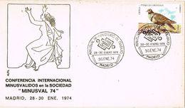 36831. Carta MADRID 1974. Conferencia Minusvalidos. MINUSVAL 74. Handicaped - 1931-Aujourd'hui: II. République - ....Juan Carlos I