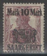 Sarre - YT 52 (*) MNG - 1921 - Unused Stamps