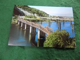 VINTAGE NEW ZEALAND: Greymouth Grey River Road & Rail Bridges Colour - New Zealand