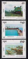 Cambodia 1990, Train, Complete Set MNH. Cv 7 Euro - Kambodscha