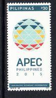 2015 Philippines APEC Economic Cooperation Complete Set Of 1 MNH - Philippines