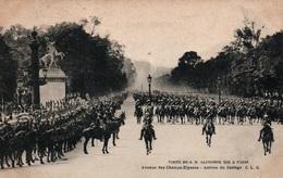 Visite De S.M. Alphonse XIII à Paris 1905 - Arrivée Du Cortège Avenue Des Champs-Elysées - Carte C.L.C. Non Circulée - Recepciones