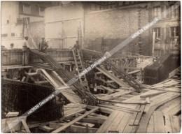 04-Travaux Théâtre De L'Empire En 1922 Photo Originale - Poutre Cantilever Avec Ouvriers - Luoghi