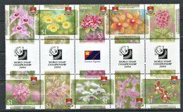 262 - KIRIBATI 2004 - Yvert 545/54 Avec Pont - Fleur Orchidee - Neuf ** (MNH) Sans Trace De Charniere - Kiribati (1979-...)