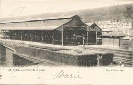 SPA - Intérieur De La Gare - Oblitération De 1905 - Pap. Califice, Spa - Spa