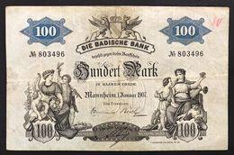 Germania Germany 100 MARK 1907 Baden LOTTO 2470 - [11] Emisiones Locales