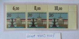 """Bund 420 I + II """"beschädigter Tropfen"""" Postfrisch Im Dreierstreifen (63844) - [7] Federal Republic"""