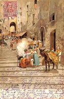 Napoli - Gradini S. Barbara (animation 1903) - Napoli