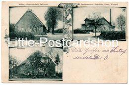 Foto AK Möller's Gastwirtschaft Kalkkuhle Forsthaus Vereinsmeierei Sirksfelde Linau Wentorf Amt Sandesneben 1905 - Sonstige