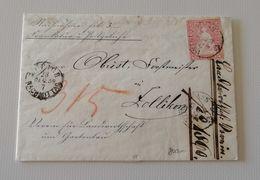 Busta Di Lettera Da Zurich Per Zollikon 23/12/1859 - 1854-1862 Helvetia (Non-dentelés)