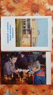 JEU - ECHECS - CHESS - ECHECS - Moscow Pioneer Palace  - OLD USSR PC 1968 - 10 PCs Set - Ajedrez