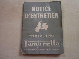 Ancienne Notice D'entretien Pour LAMBRETTA - Motos