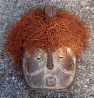 Masker Van De Mongo Stam Uit Congo - Masque De La Tribue Des Mongo Du Congo - Arte Africano